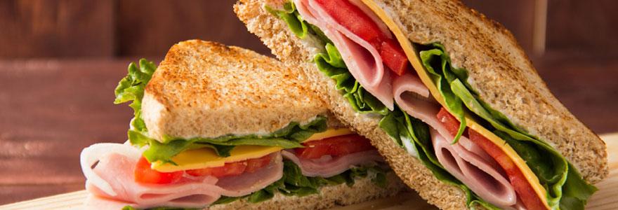 Large choix de sandwich