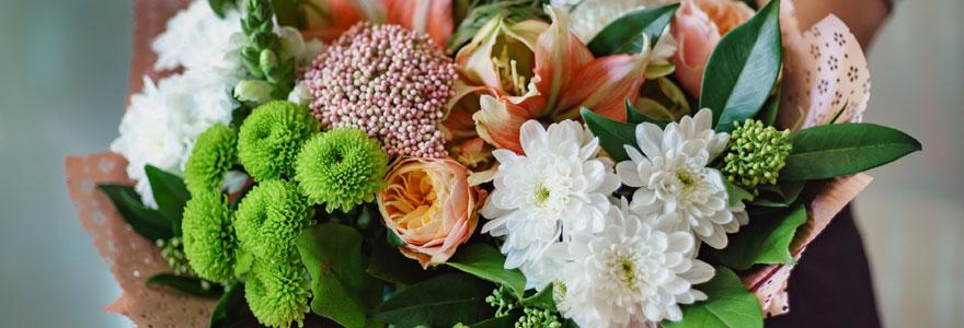 bouquet de fleurs bouton
